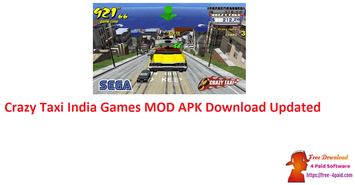 Crazy Taxi India Games MOD APK Download Updated