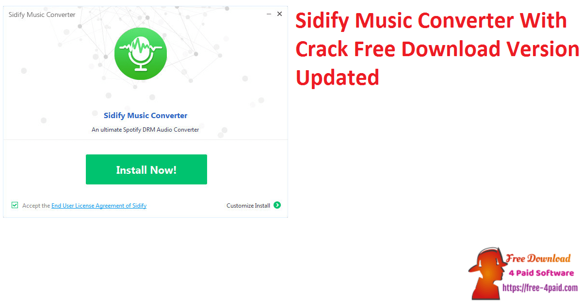 Sidify Music Converter With Crack Free Download Version Updated
