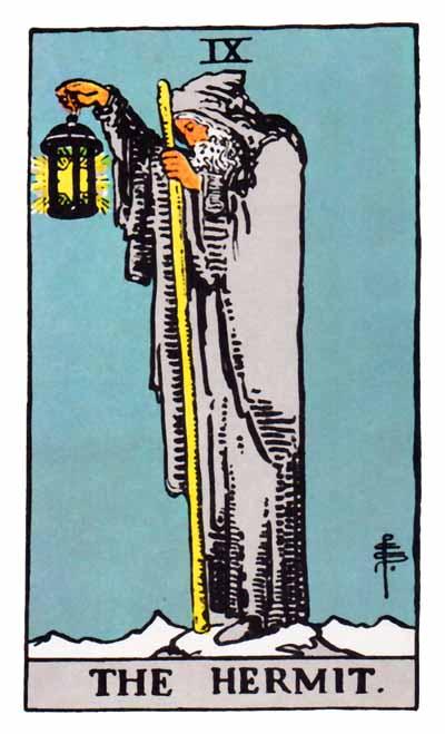 Tarot Hermit Card