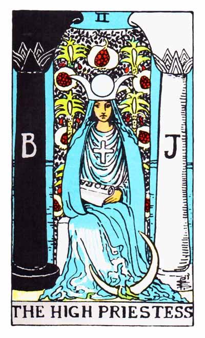 Tarot High Priestess Card