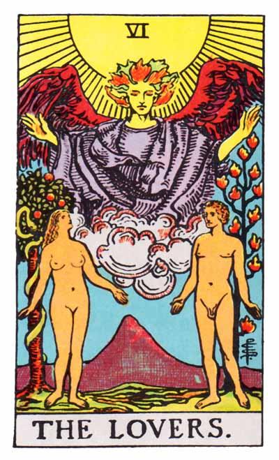 Tarot Lovers Card