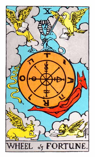 Tarot Wheel of Fortune Card