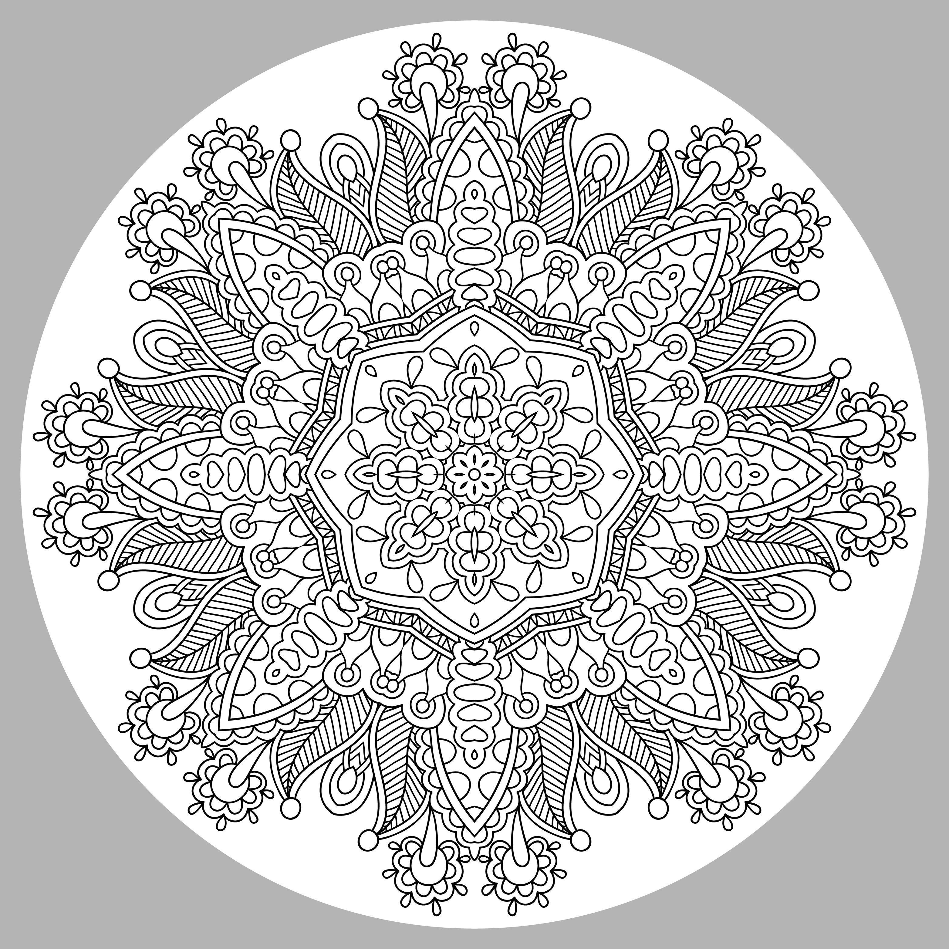Complex Difficult Mandala Coloring Pages Novocom Top