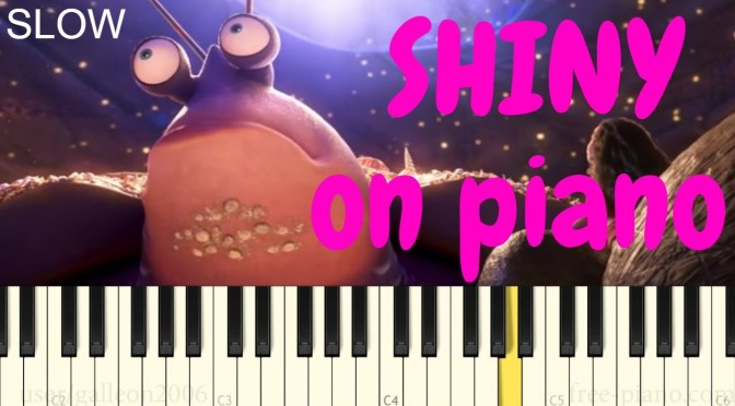 How to play Shiny –  Piano Tutorial (Slow) – Moana Soundtrack – Jermaine Clement