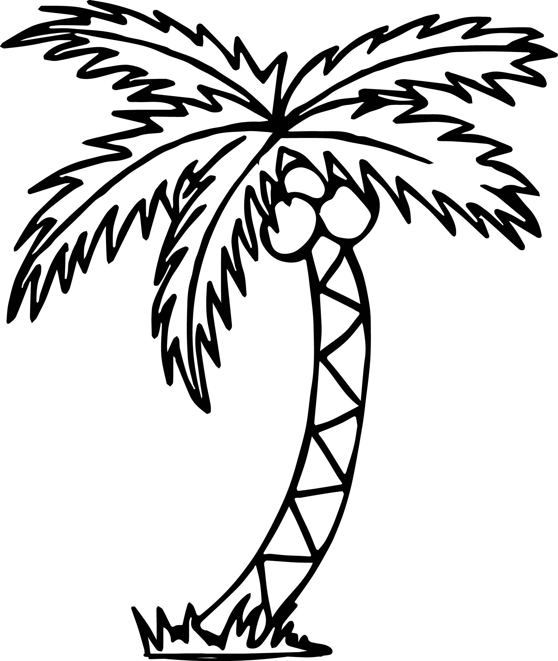Free Printable Palm Tree Template