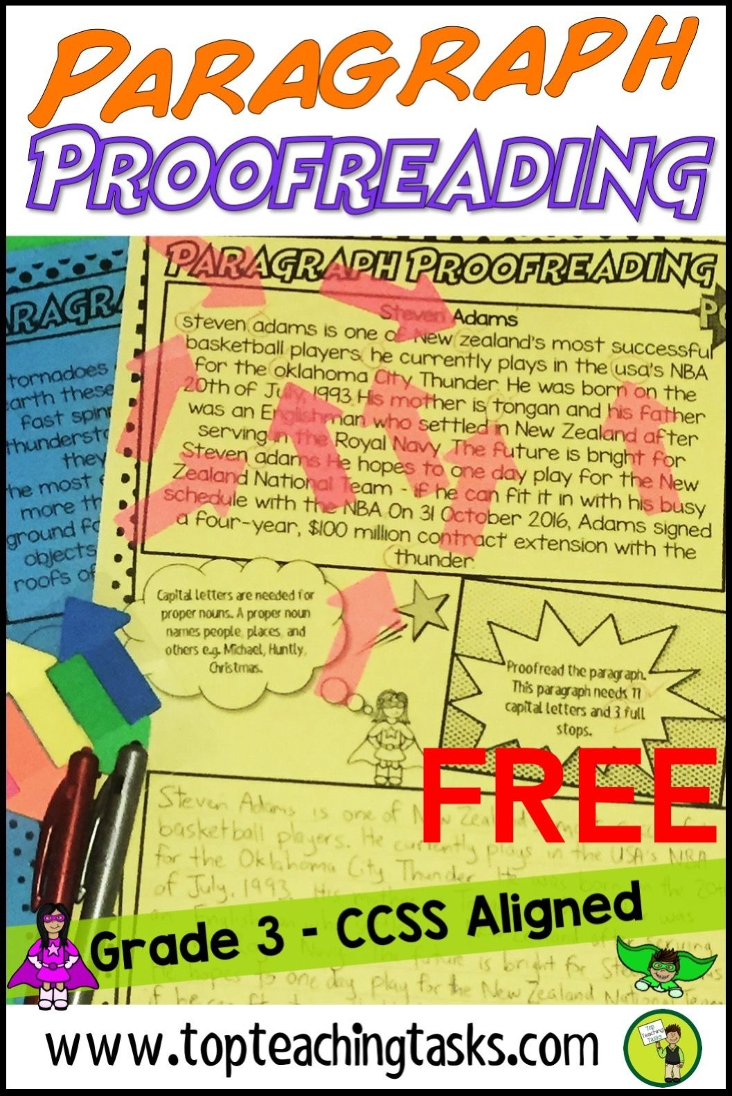 Punctuation Proofreading Practice Activity Worksheets Free