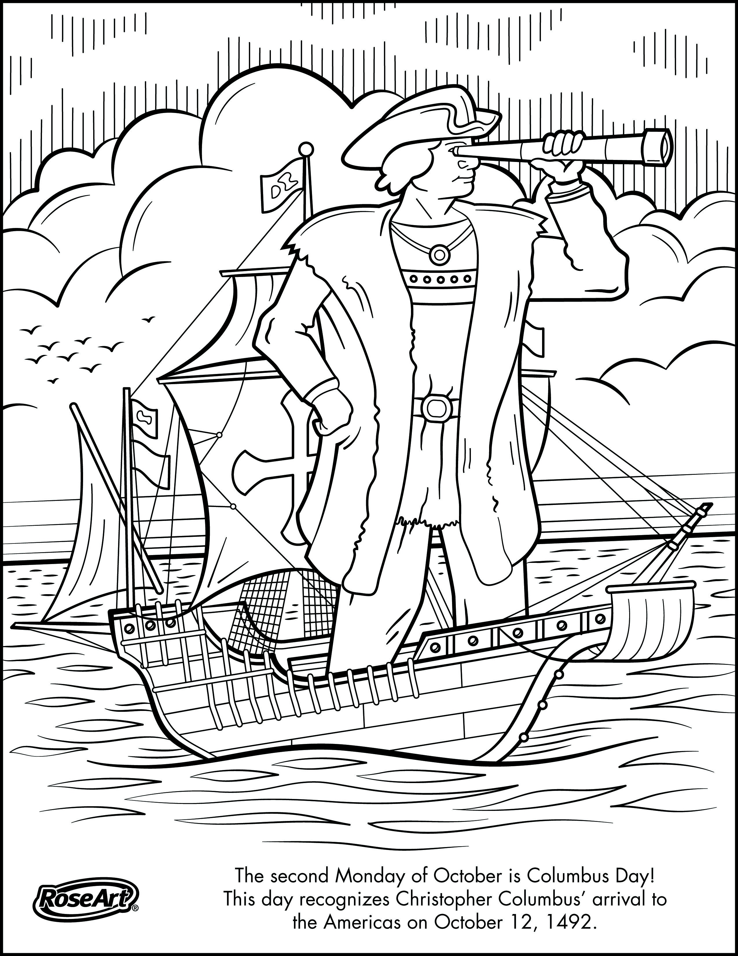 Hurry Christopher Columbus Ships Coloring Pages Page