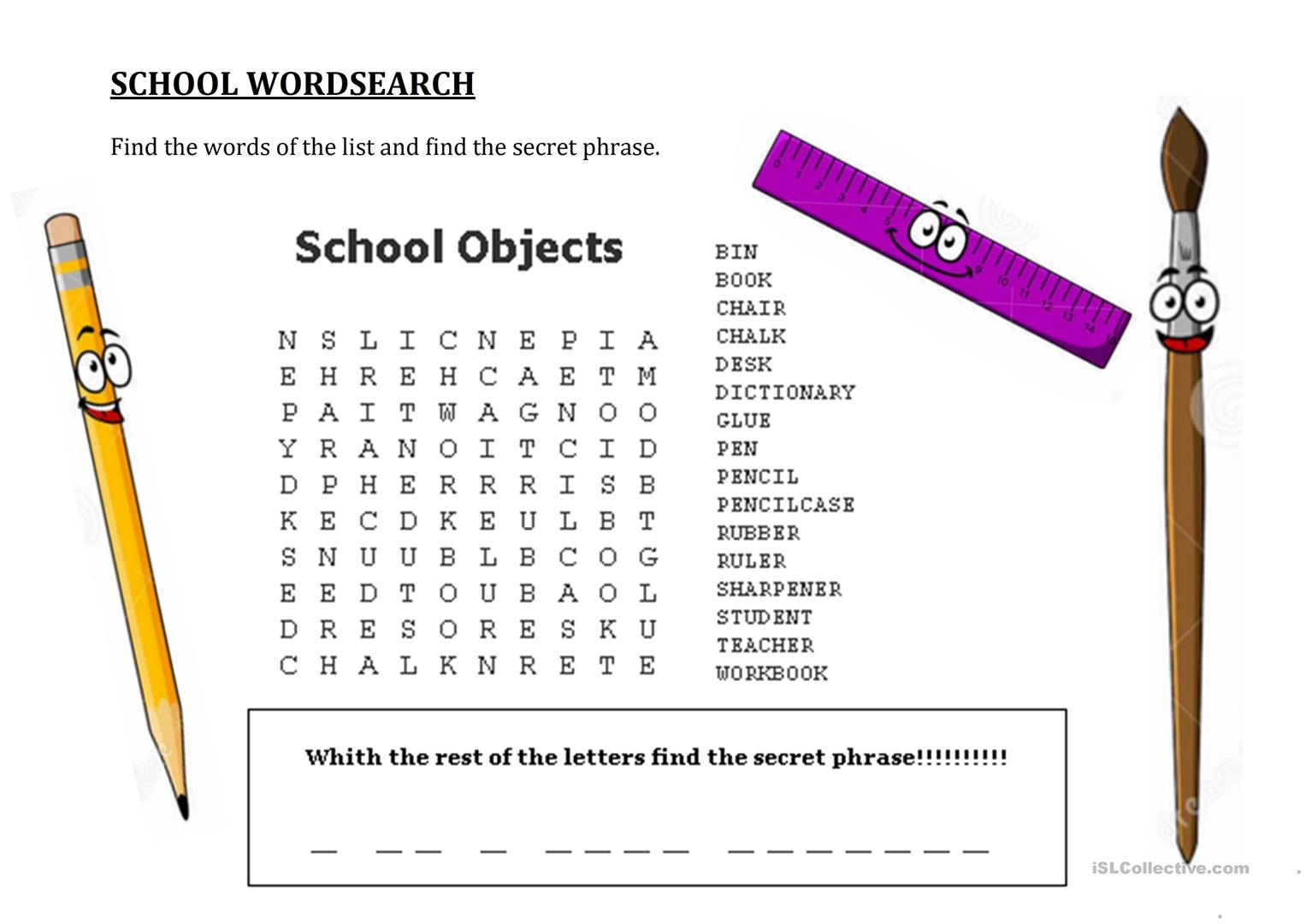 Free Word Search With Hidden Message Printable