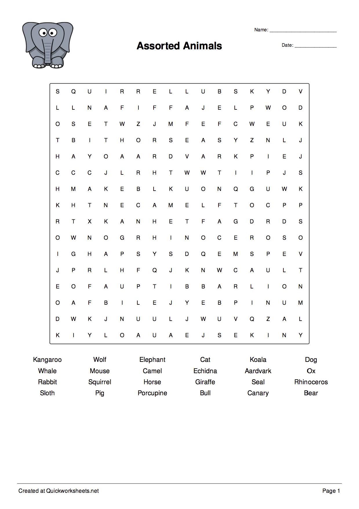 Free Word Scramble Maker Printable