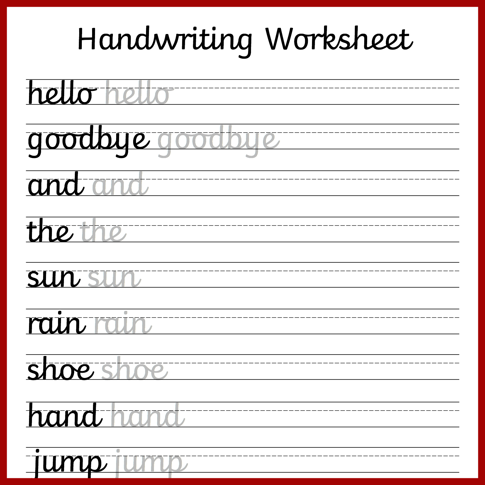 Make Your Own Worksheets Free Printable