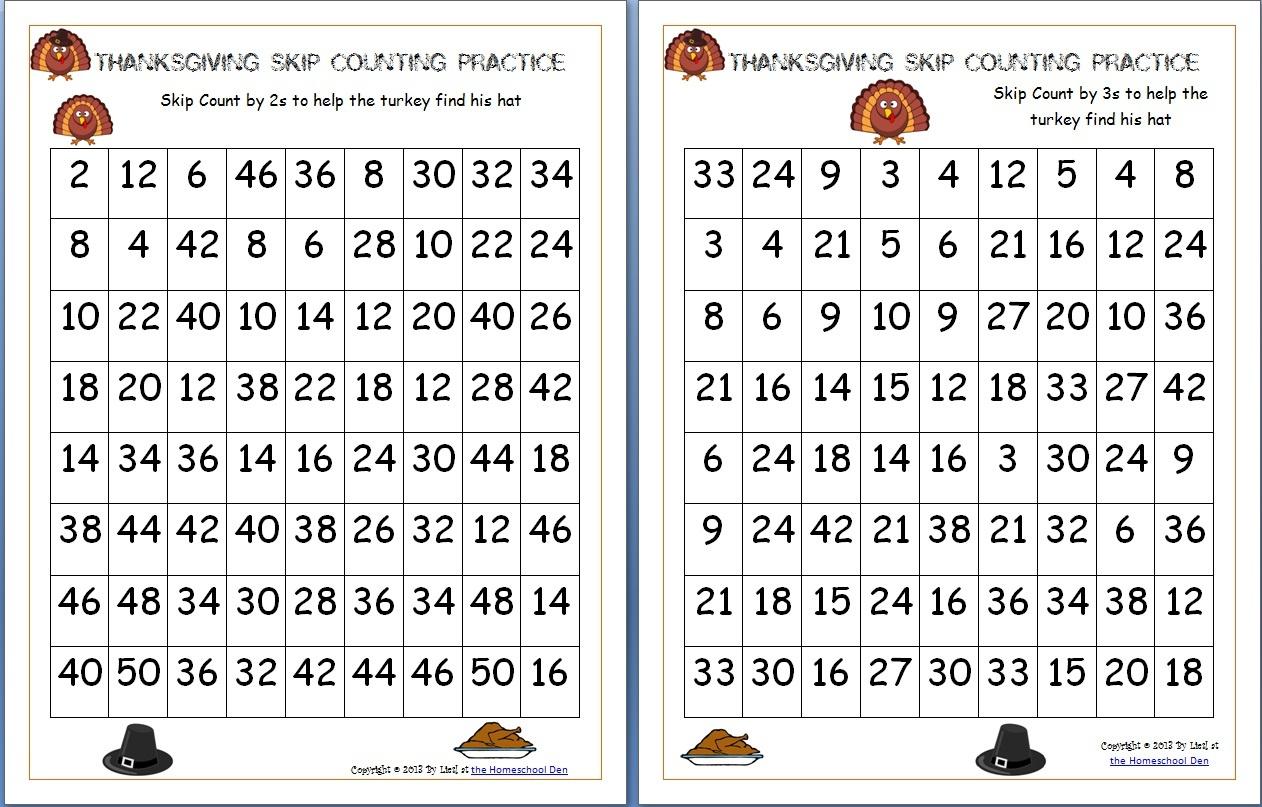 Math Worksheets Thanksgiving Free Printable