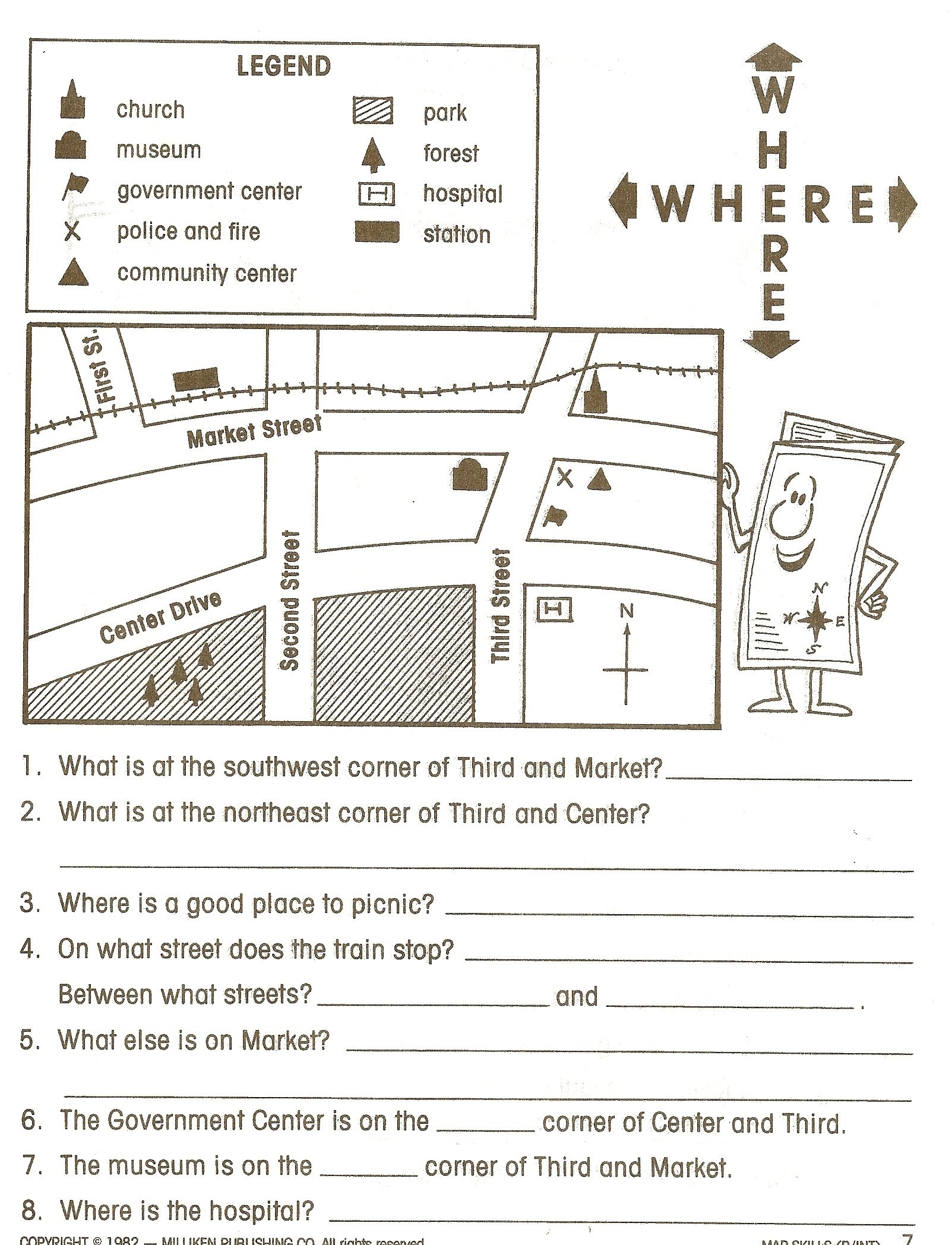 Social Stu S Worksheets First Grade Free Printable