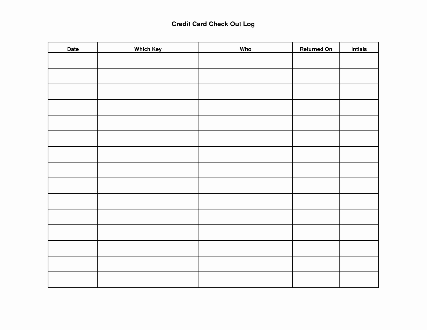 Free Printable Sign In And Out Sheets