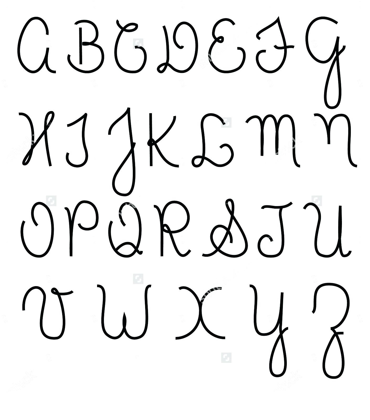 Capital Cursive Alphabets A To Z Free Printable Lowercase