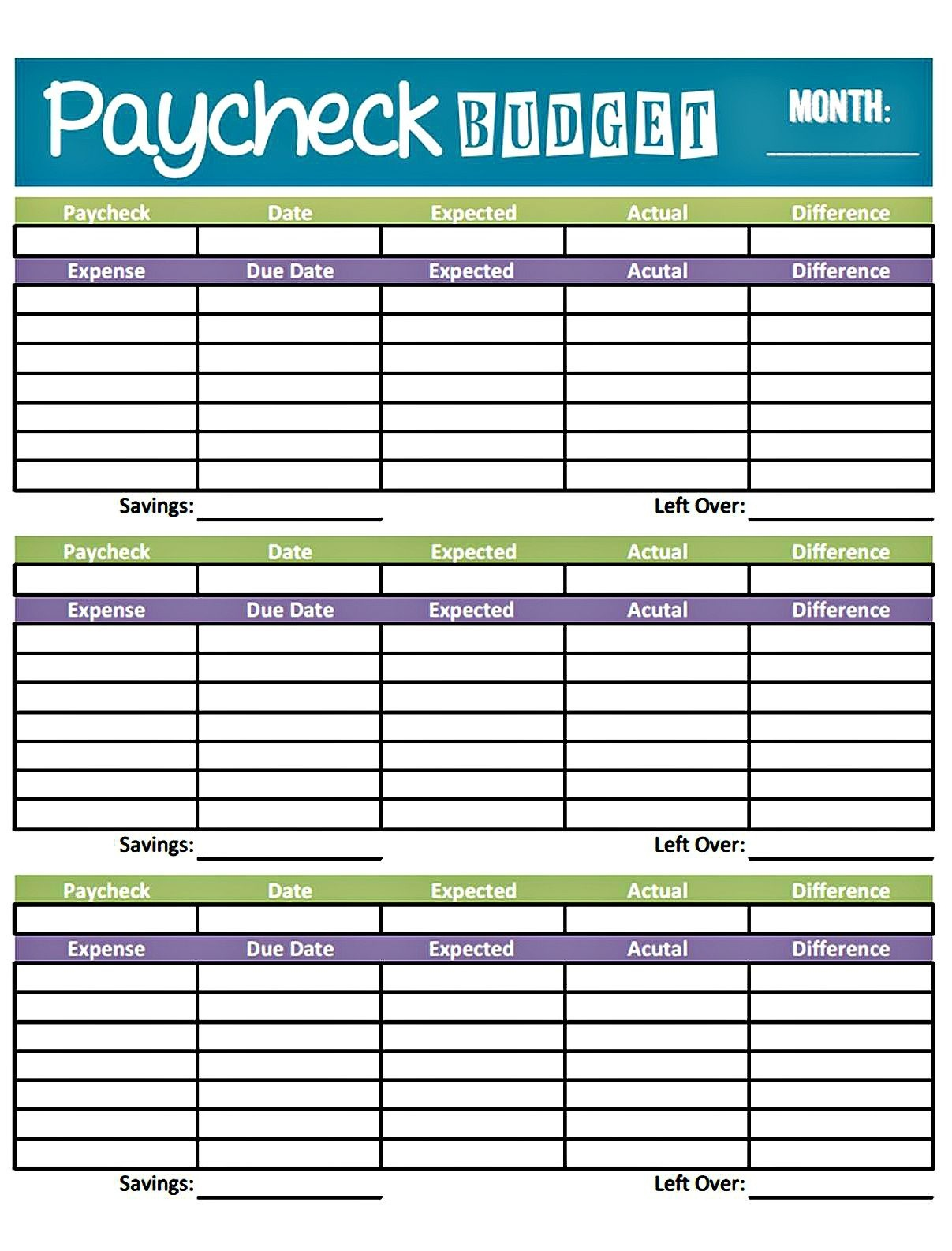 013 Printable Monthly Budget Template Free Best Of Blank