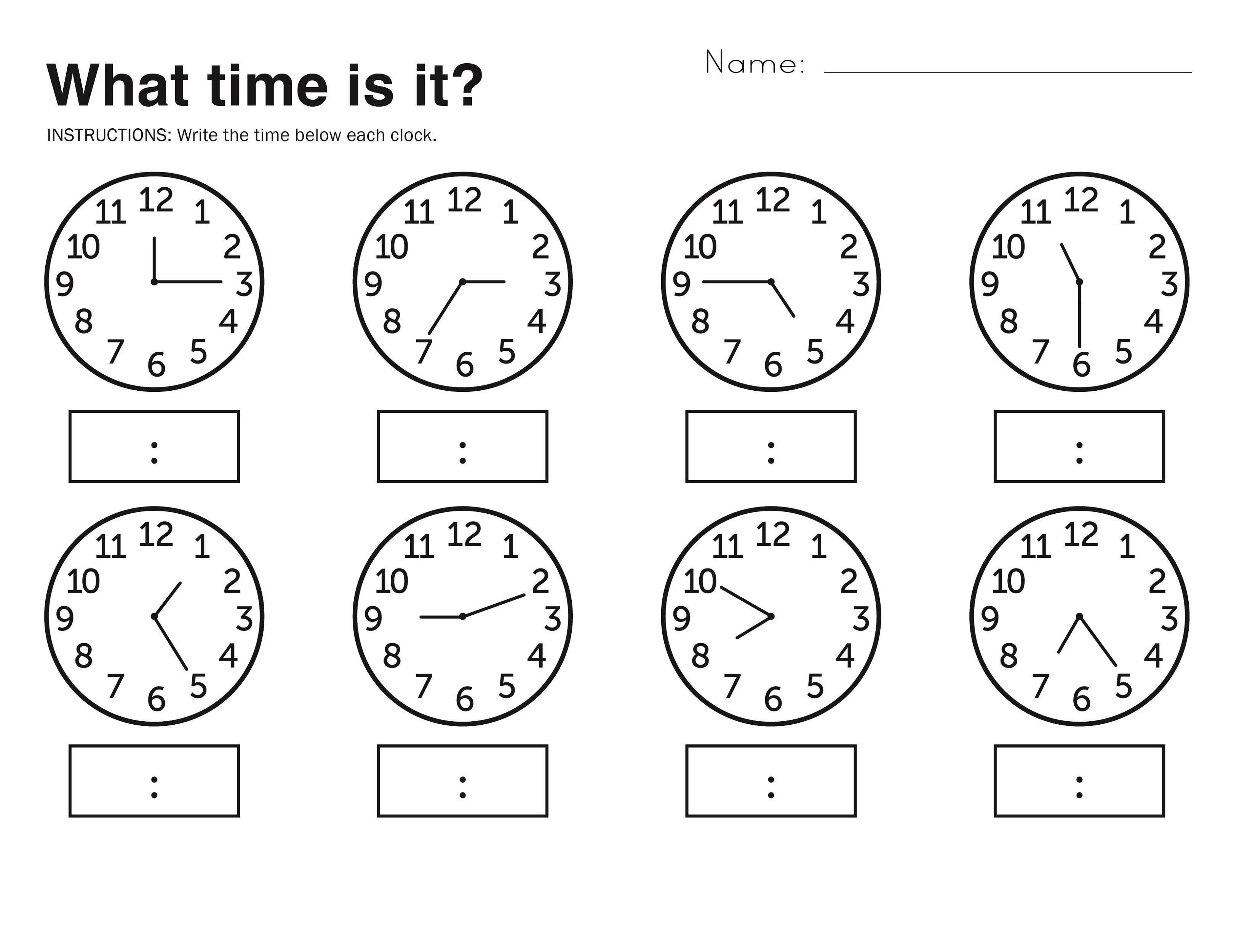 Elapsed Time Worksheets Free Printable