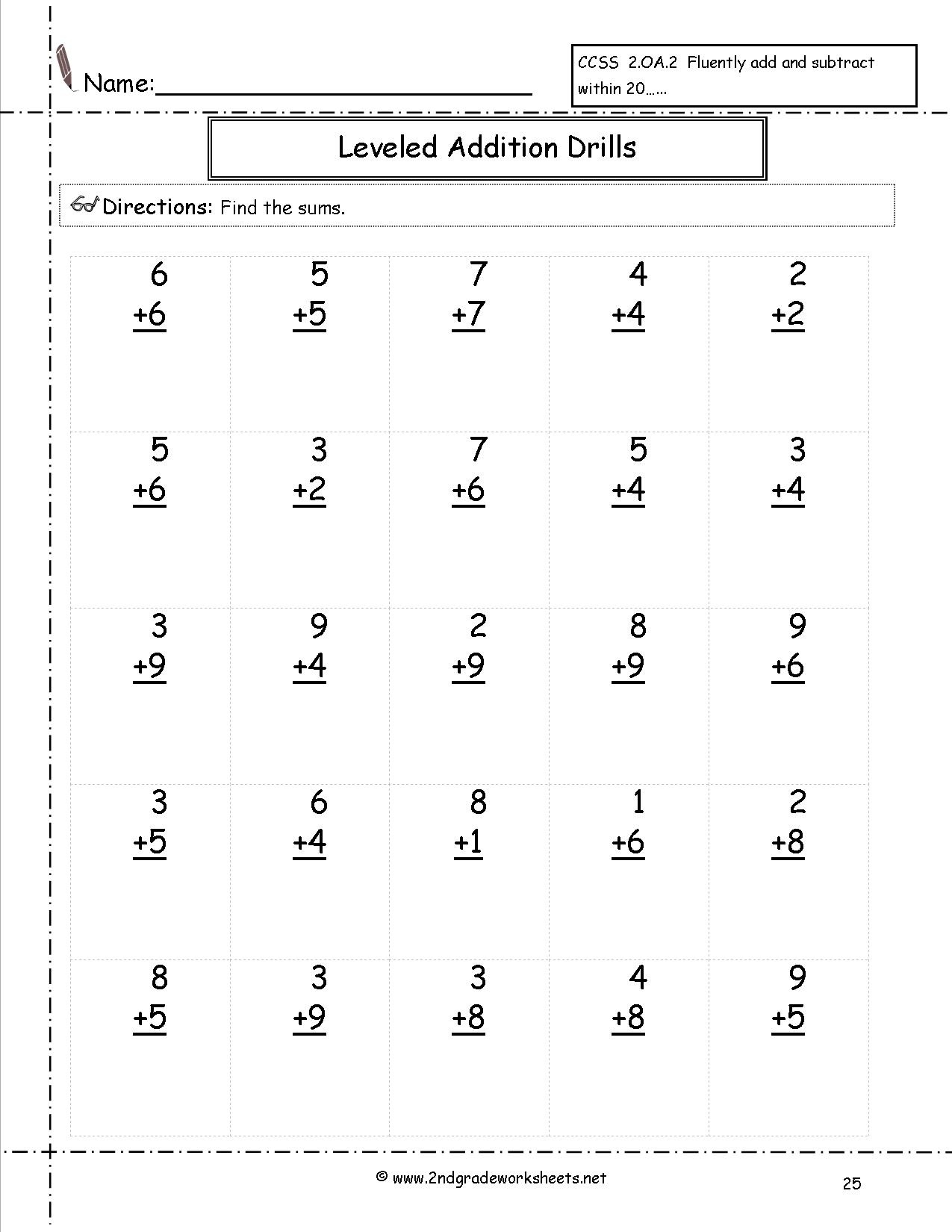 Free Printable Subtraction Worksheets For 2nd Grade