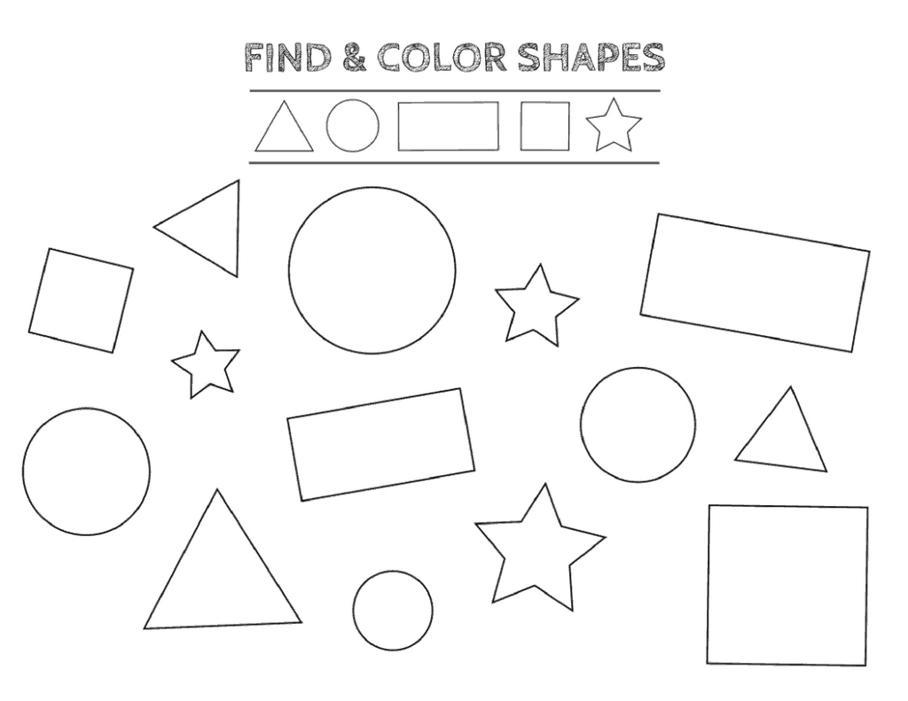 Free Printable Shapes Worksheets For Kindergarten