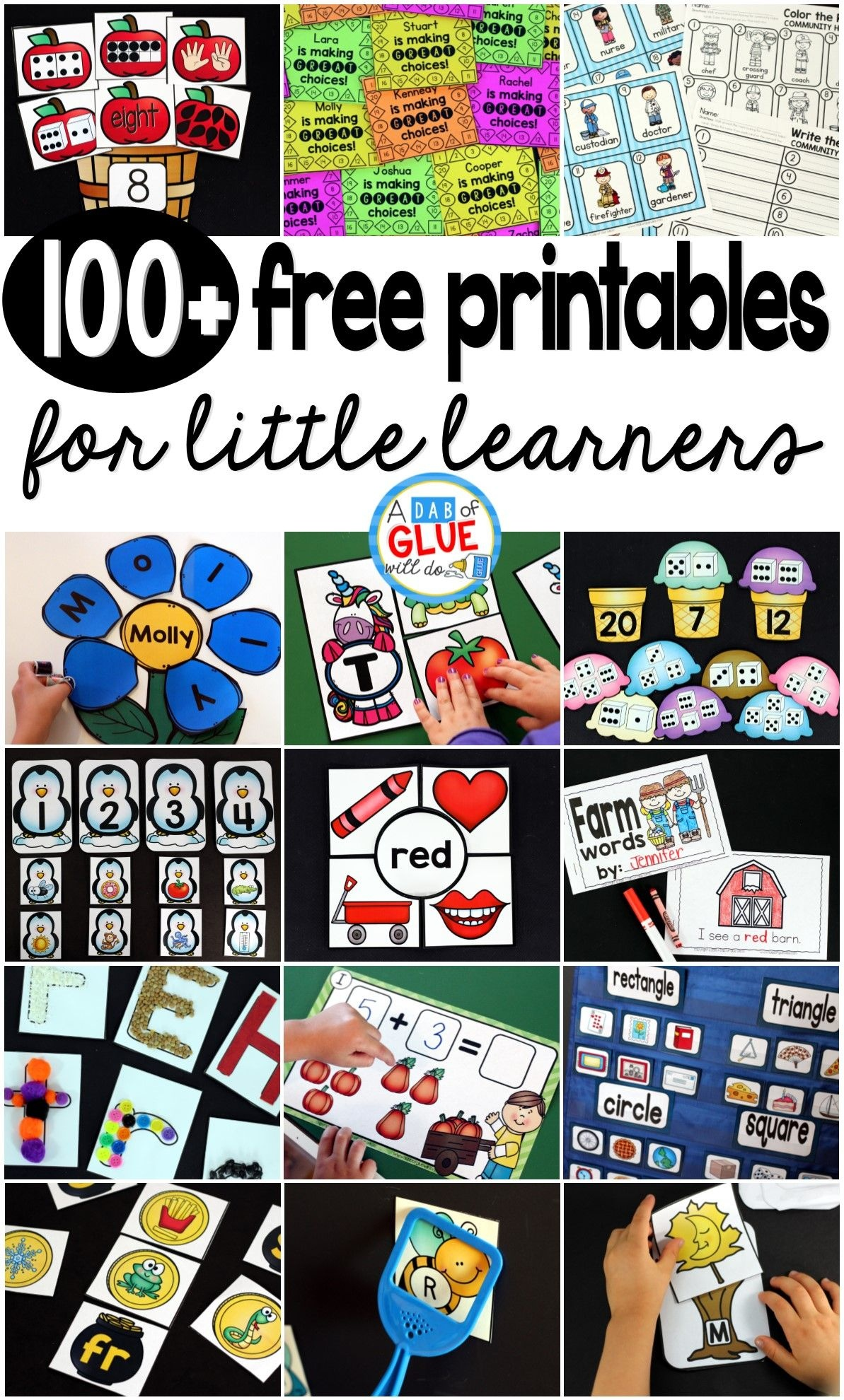 50 Free Preschool Printables For Early Childhood