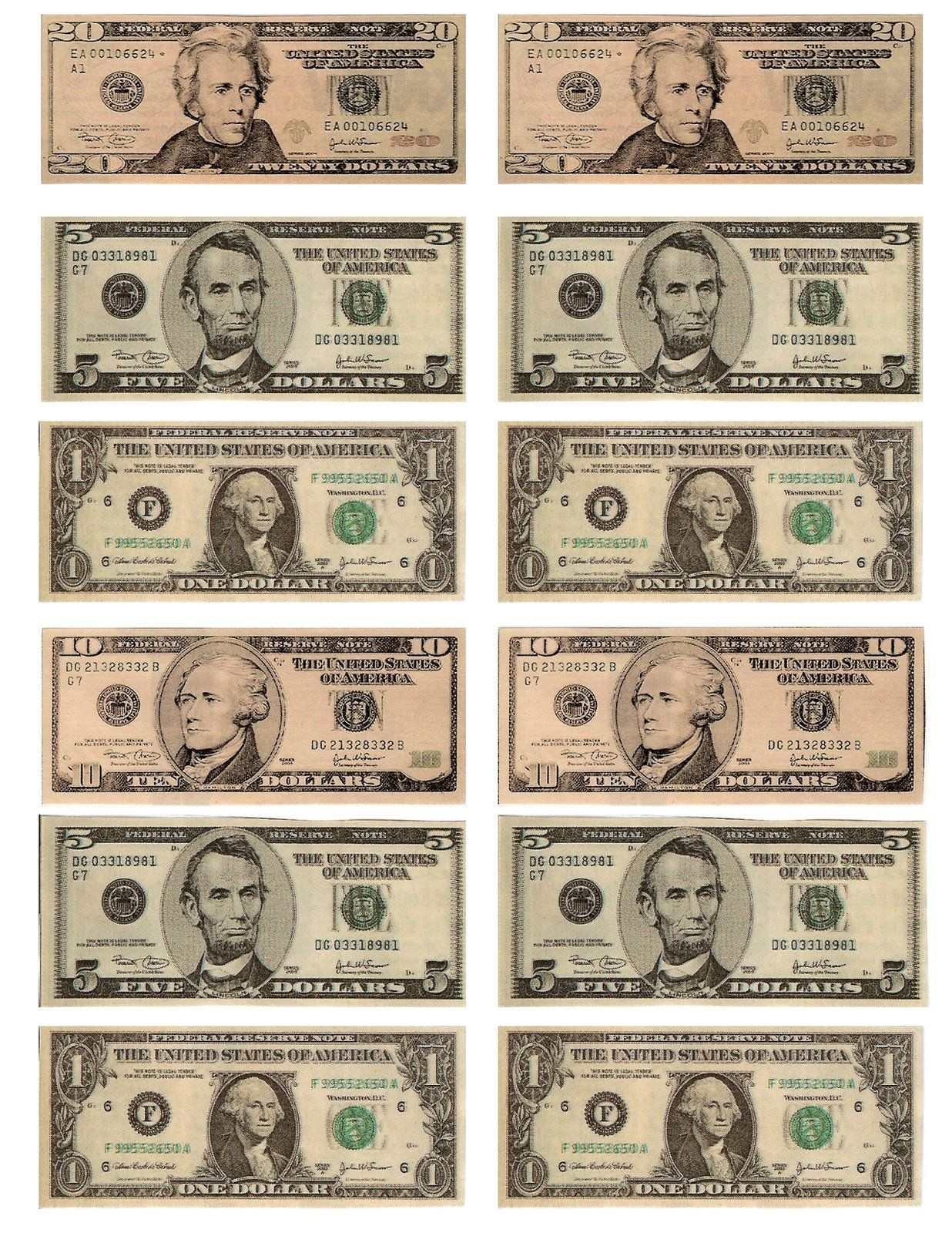 Legal Free Printable Money For Teaching The Kids About