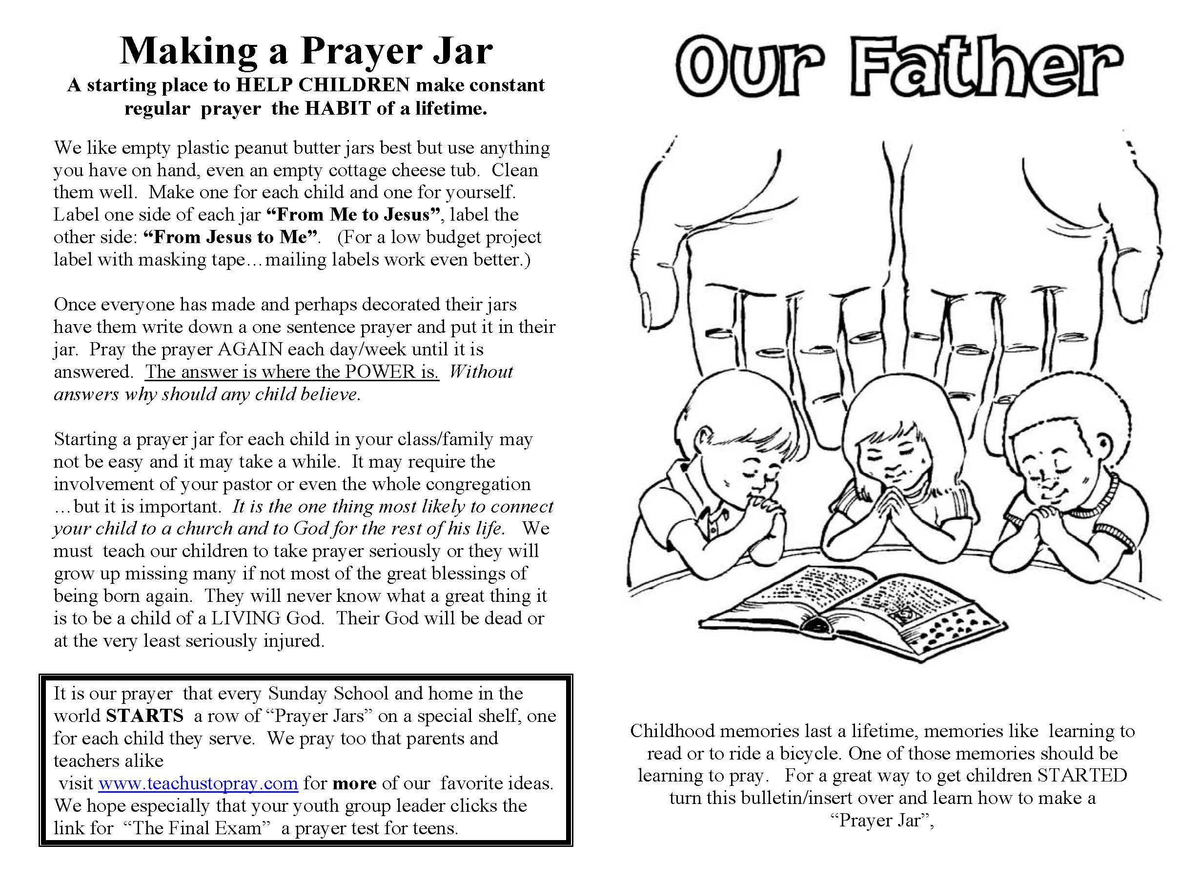 Free Printable Lord S Prayer Coloring Pages