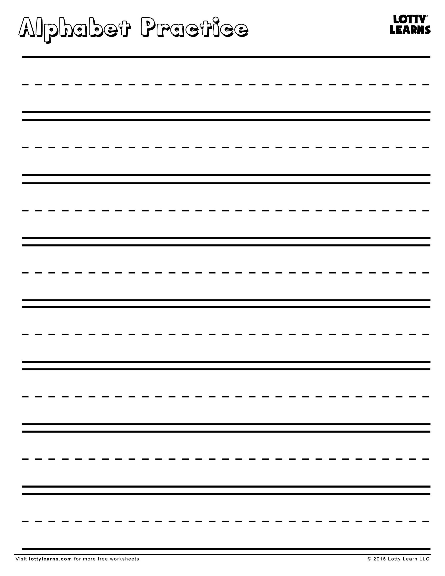 Practice Makes Perfect Blank Alphabet Practice Sheet
