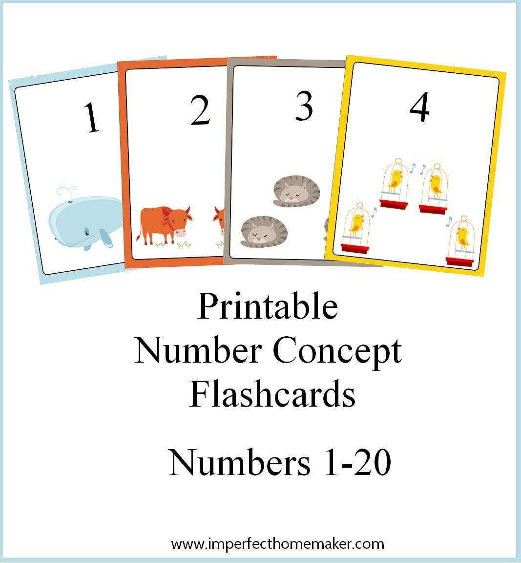 Printable Spanish Number Flash Cards