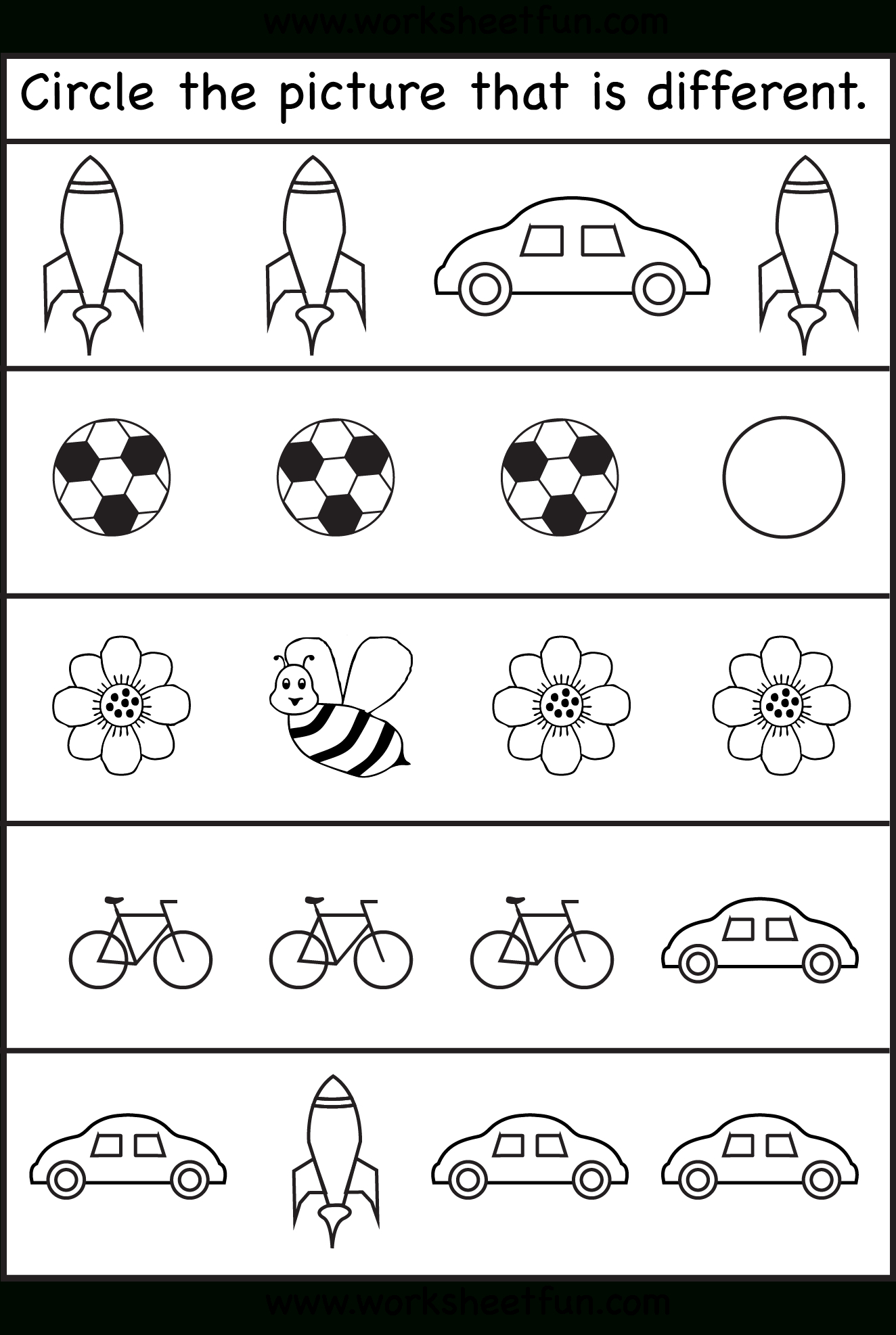 - Toddler Worksheets 4 Year Old Printable Worksheets And