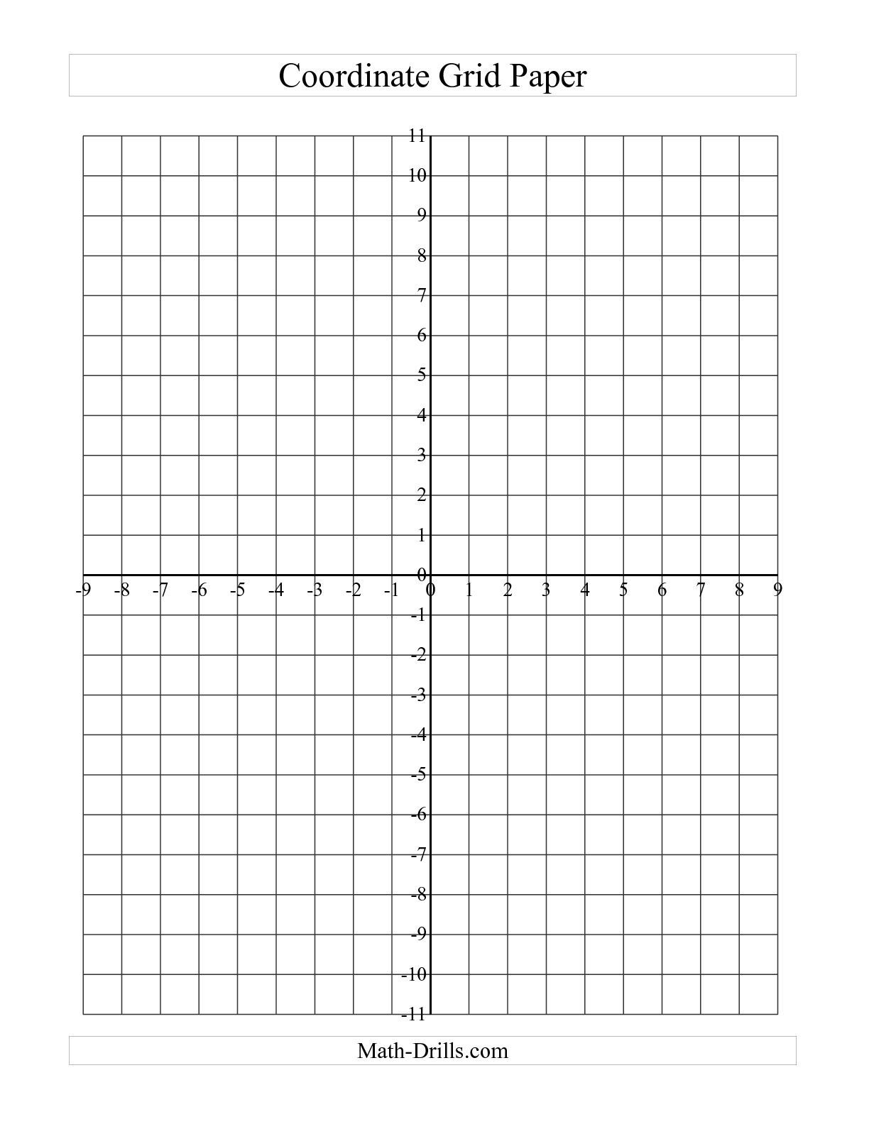 Free Printable Coordinate Grid Worksheets