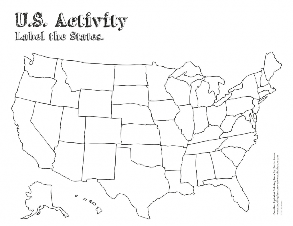 Blank Us State Map