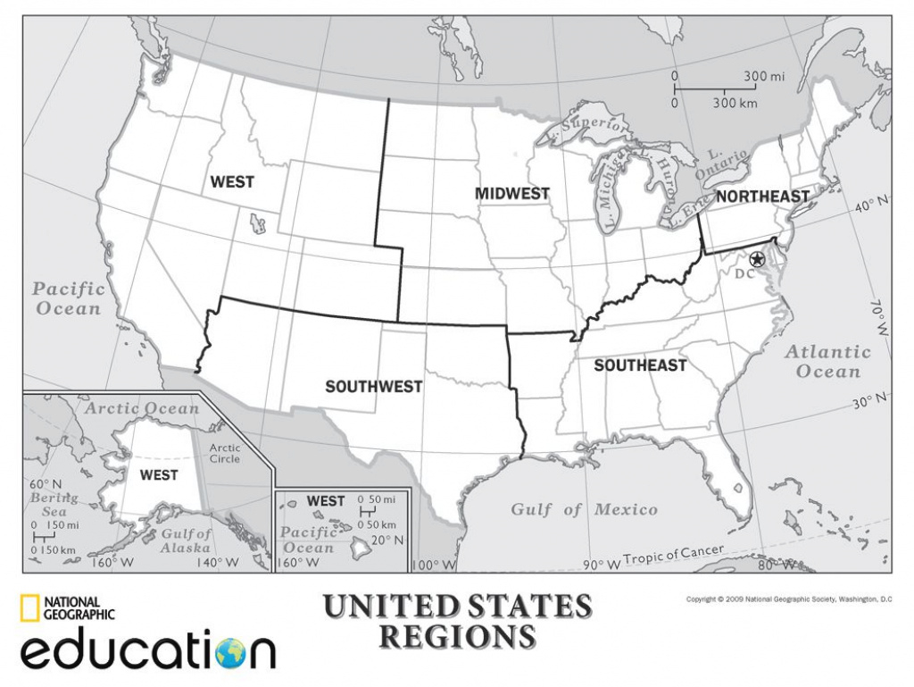 United States Map Divided Into 5 Regions