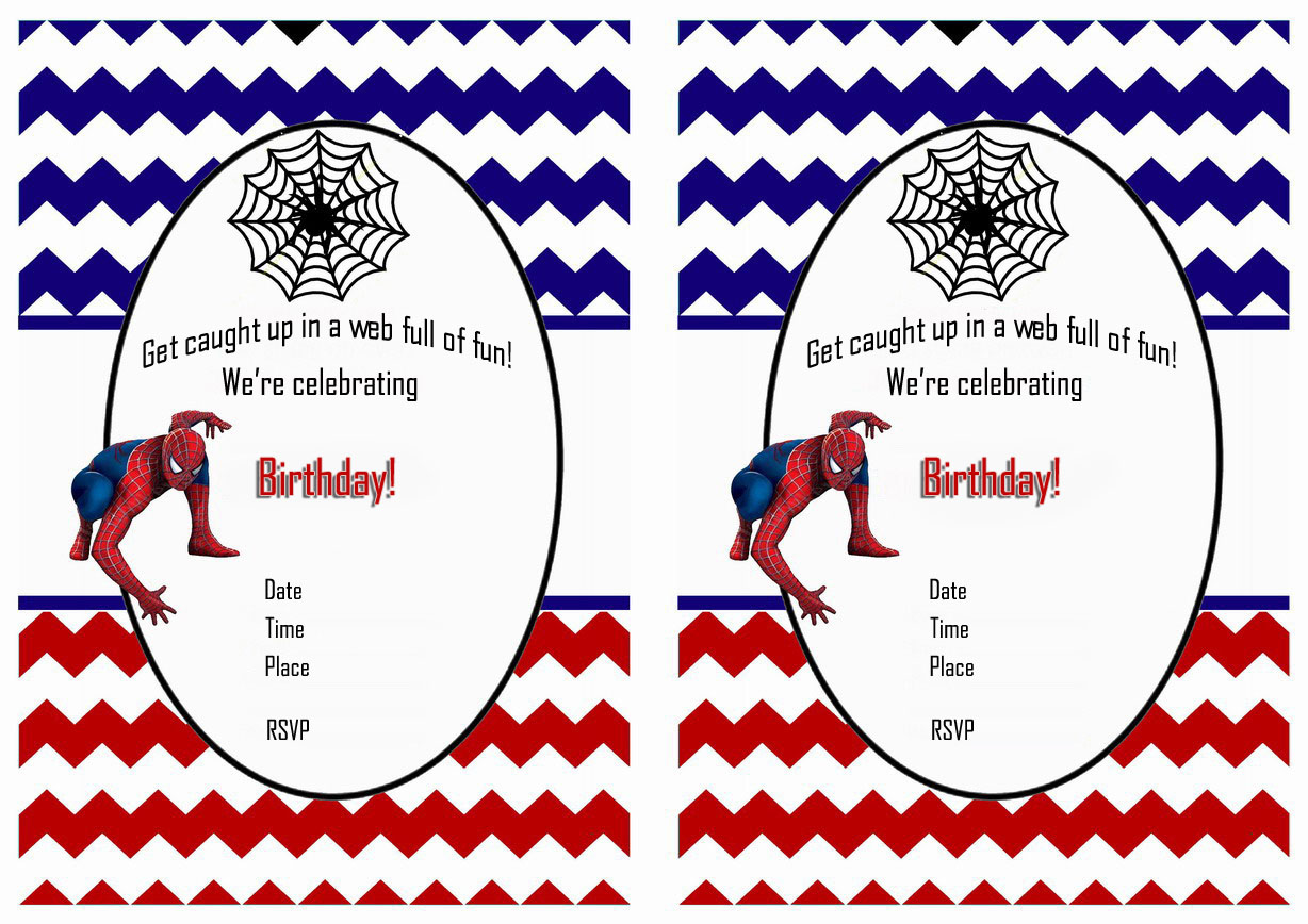 Free Printable Spiderman Birthday Invitations Free