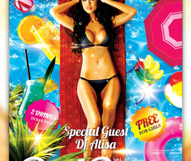 Pool Party  Free Flyer Psd Template Facebook