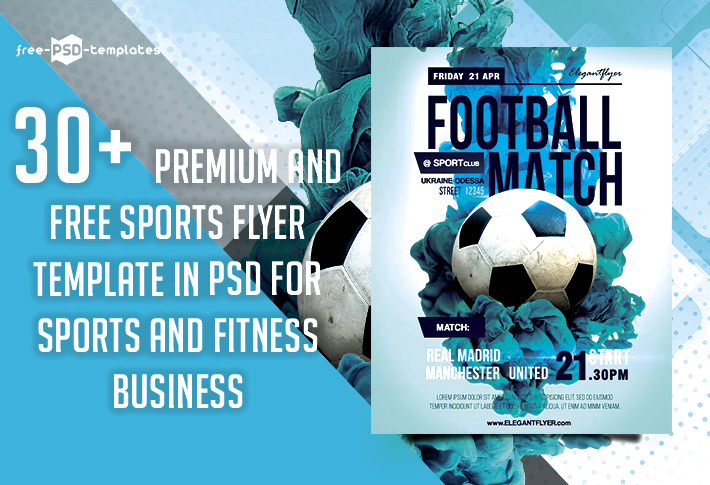 30 Premium Free Sports Flyer Psd Template For Sports And