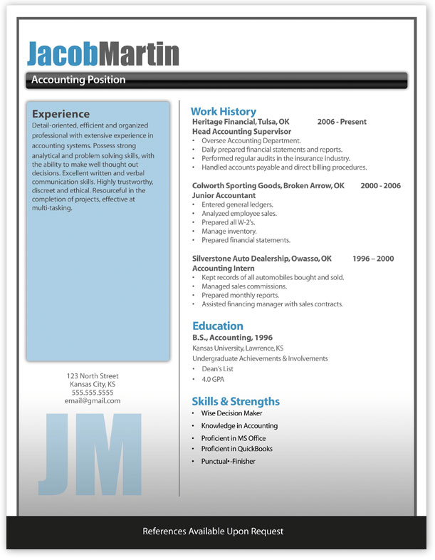 cv template for microsoft word