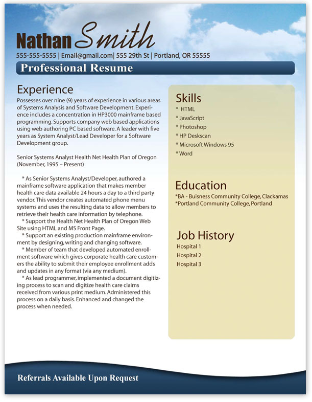 resume style clean layout edit and print with ease works as a resume