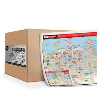 Case of MapWharf Padded Map   10 Pads Per Case   Free San Francisco     MapWharf Case of MapWharf Padded Version