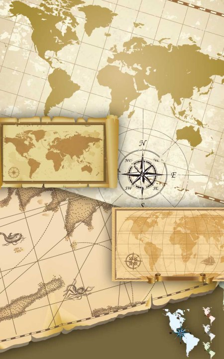 Old-map-of-vector-material1-450x720