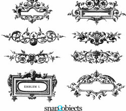 Free Floral Ornaments Vector Pack