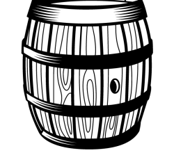 Wooden Barrel Vector Graphics