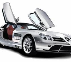 Mercedes Benz SLR McLaren Vector Image