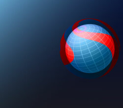 Vector Background Design with Blue Sphere