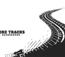 Abstract winding tire track mark background Free Vector