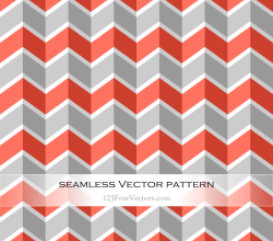 Orange and Grey Chevron Pattern Background