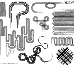 Line Art Design Elements Vector Set-2