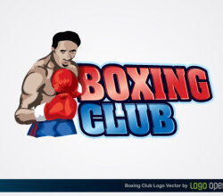 Boxing Club Logo Vector