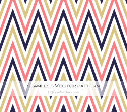 Colorful Zigzag Seamless Pattern Illustration