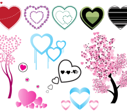 Vector Heart Shape Images