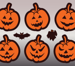 Jack O' Lantern Pumpkin Faces Vector Art