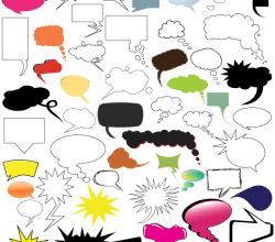 Vector Thought and Speech Bubbles Illustrator Pack